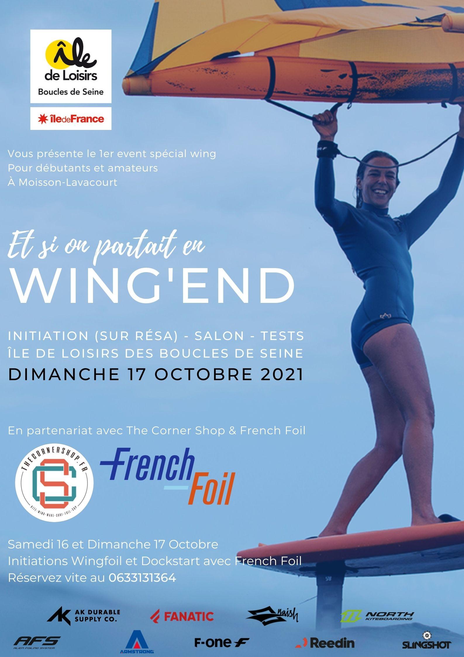 Venez vous vous initier au Wingfoil dimanche 17 octobre.                                    Sur réservation au 06 33 13 13 64